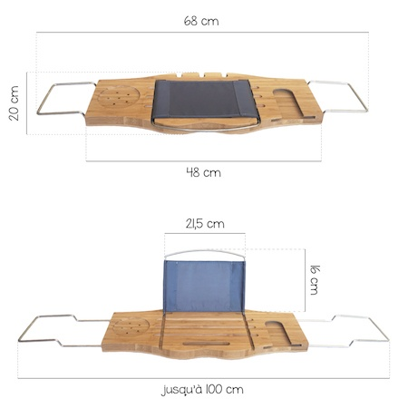 dimensions longueur et largeur plateau bain